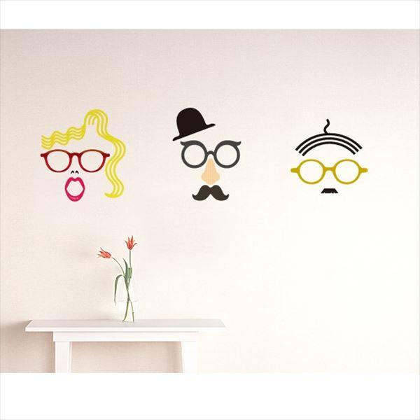 東京ステッカー 高級ウォールステッカー グラフィックアート メガネ Lサイズ *TS0048-AL ベーシック 『おしゃれ かわいい』 『壁 シール』