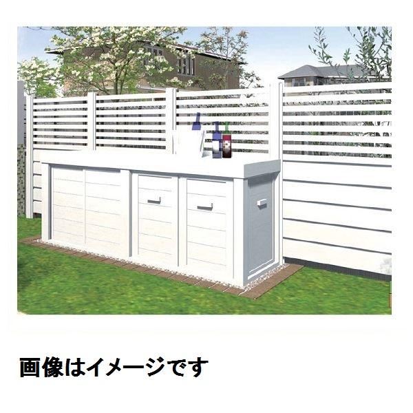 『 単独施工不可 』 メイク 快天浴収納庫 (快天浴フェンス・Kフレーム専用) 前面扉 引き違いタイプ D600 ・FMPN02