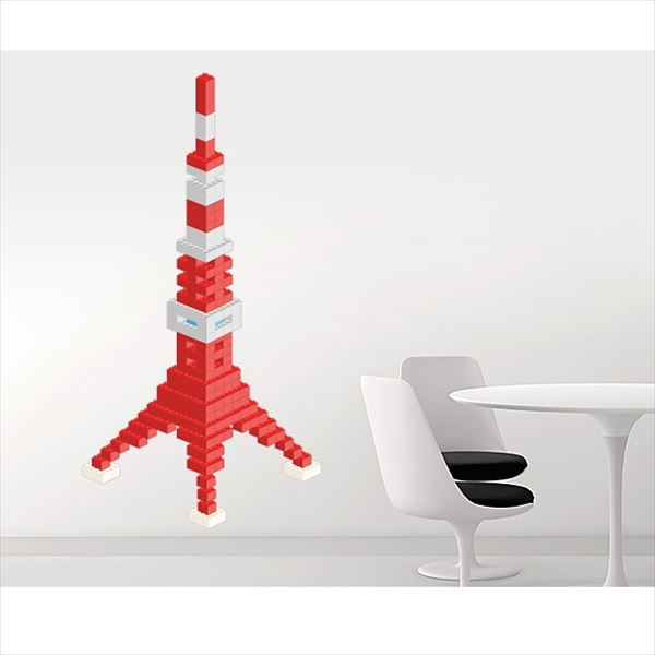 東京ステッカー 高級ウォールステッカー キッズ ブロック・タワー Lサイズ *TS0020-AL ベーシック 『おしゃれ かわいい』 『壁 シール』