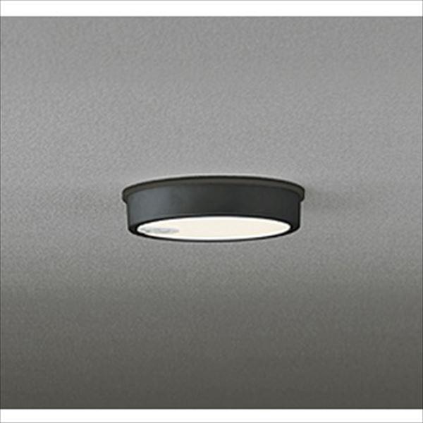 オーデリック 軒下用シーリングダウンライト FLAT PLATE 白熱灯100wクラス 人感センサ付 ON-OFF型 ブラック # OG 254 524  電球色