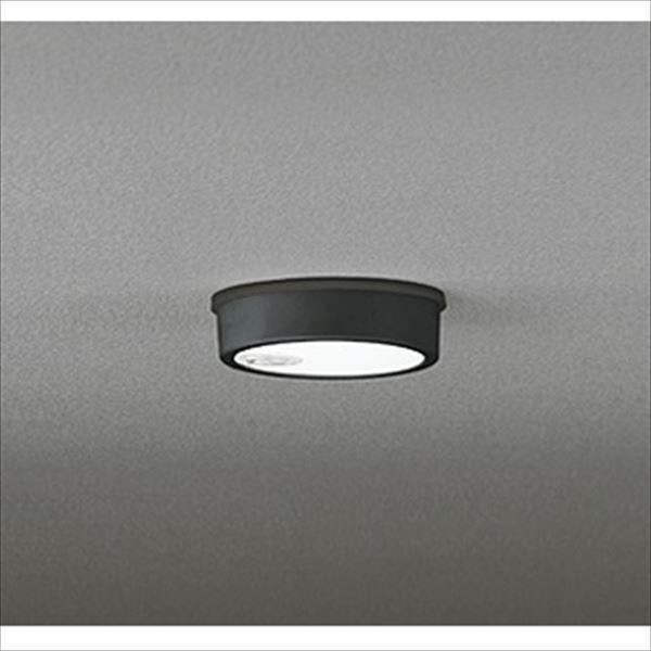 オーデリック 軒下用シーリングダウンライト FLAT PLATE 白熱灯60wクラス 人感センサ付 ON-OFF型 ブラック # OG 254 535  昼白色