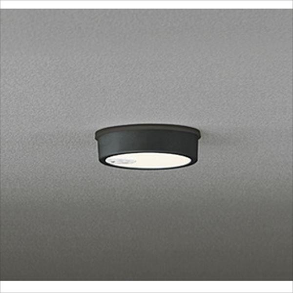 オーデリック 軒下用シーリングダウンライト FLAT PLATE 白熱灯60wクラス 人感センサ付 ON-OFF型 ブラック # OG 254 536  電球色