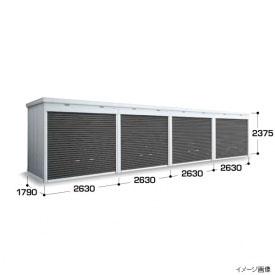 『配送は関東・東海限定』イナバ物置 FXN/シャッター連続型 FXN-50HYL 床タイプ 一般型・基本棟(棚板3段付) *1棟目のみの価格