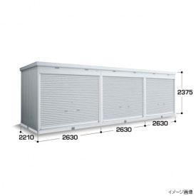 『配送は関東・東海限定』イナバ物置 FXN/シャッター連続型 FXN-60HYL 床タイプ 一般型・基本棟(棚板3段付) *1棟目のみの価格