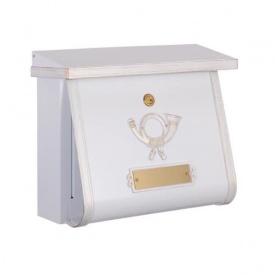 オンリーワン ハイビポスト クラシカルタイプ クラシカルポストC シリンダー錠 MA1-64104008 『郵便ポスト』 ホワイト/ゴールド