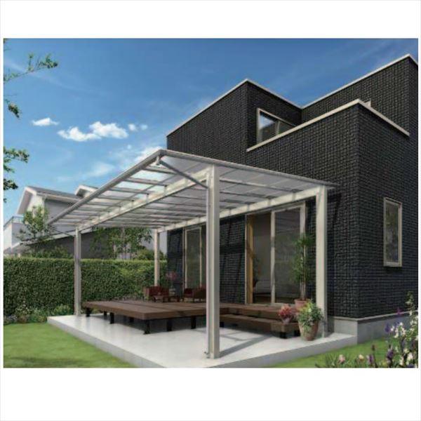 『全国配送』 YKKAP エフルージュ 大型テラス 独立タイプ 54×39 熱線遮断ポリカーボネート屋根 高さ2800mm DTC-D3954L- 木調色 木調色