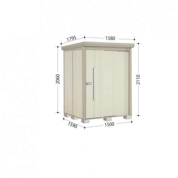 タクボ物置 ND/ストックマン ND-S1515 多雪型 標準屋根 『追加金額で工事も可能』 『屋外用中型・大型物置』 ムーンホワイト