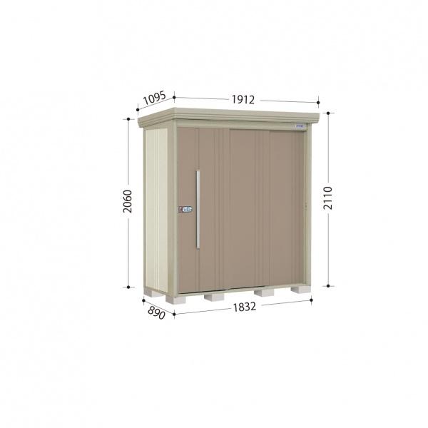 タクボ物置 ND/ストックマン ND-1808 一般型 標準屋根 『追加金額で工事も可能』 『屋外用中型・大型物置』 カーボンブラウン
