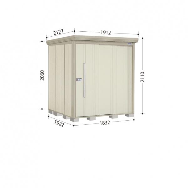 タクボ物置 ND/ストックマン ND-1819 一般型 標準屋根 『追加金額で工事も可能』 『屋外用中型・大型物置』 ムーンホワイト