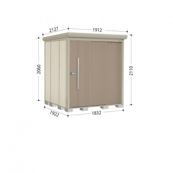 タクボ物置 ND/ストックマン ND-1819 一般型 標準屋根 『追加金額で工事も可能』 『屋外用中型・大型物置』 カーボンブラウン