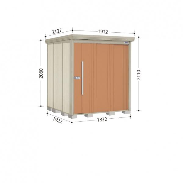 タクボ物置 ND/ストックマン ND-1819 一般型 標準屋根 『追加金額で工事も可能』 『屋外用中型・大型物置』 トロピカルオレンジ