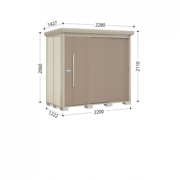 送料無料【タクボ物置】当店なら開梱設置、組立工事可能です。高機能と収納力なら タクボ物置 ND/ストックマン ND-2212 一般型 標準屋根 『追加金額で工事も可能』 『屋外用中型・大型物置』 カーボンブラウン