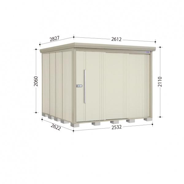 タクボ物置 ND/ストックマン ND-S2526 多雪型 標準屋根 『追加金額で工事も可能』 『屋外用中型・大型物置』 ムーンホワイト