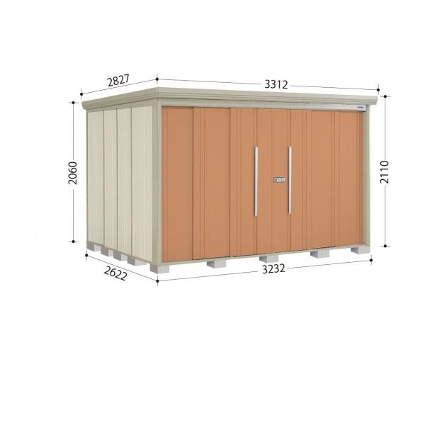 タクボ物置 ND/ストックマン ND-SZ3226 多雪型 結露減少屋根 『追加金額で工事も可能』 『屋外用中型・大型物置』 トロピカルオレンジ
