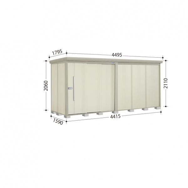 タクボ物置 ND/ストックマン ND-4415 一般型 標準屋根 『追加金額で工事も可能』 『屋外用中型・大型物置』 ムーンホワイト