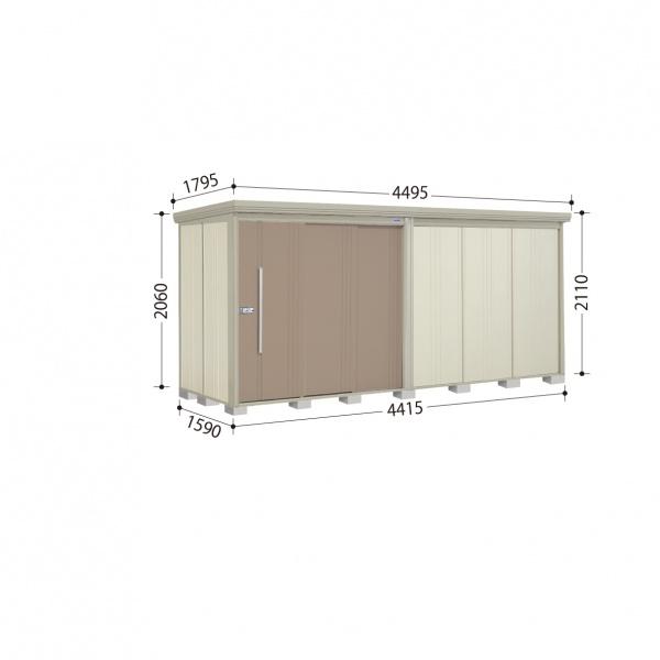 タクボ物置 ND/ストックマン ND-Z4415 一般型 結露減少屋根 『追加金額で工事も可能』 『屋外用中型・大型物置』 カーボンブラウン