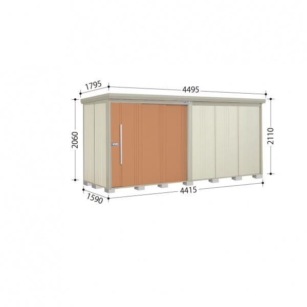 タクボ物置 ND/ストックマン ND-S4415 多雪型 標準屋根 『追加金額で工事も可能』 『屋外用中型・大型物置』 トロピカルオレンジ