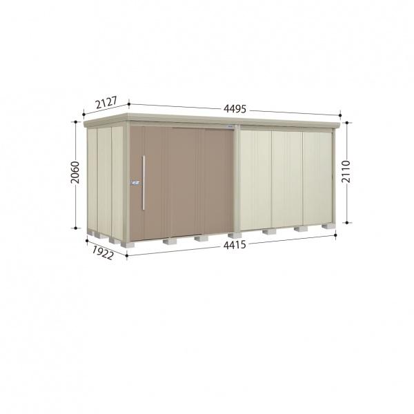 タクボ物置 ND/ストックマン ND-4419 一般型 標準屋根 『追加金額で工事も可能』 『屋外用中型・大型物置』 カーボンブラウン