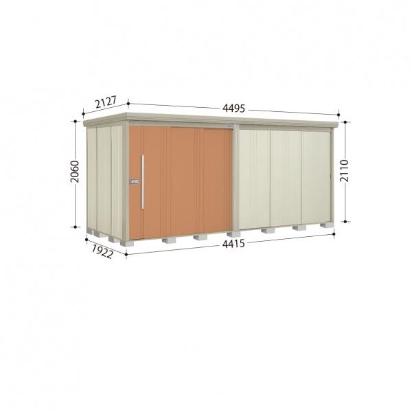 タクボ物置 ND/ストックマン ND-4419 一般型 標準屋根 『追加金額で工事も可能』 『屋外用中型・大型物置』 トロピカルオレンジ