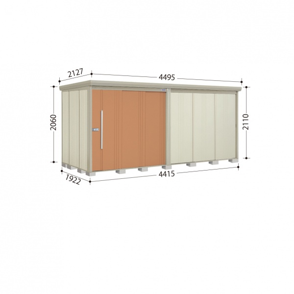 タクボ物置 ND/ストックマン ND-S4419 多雪型 標準屋根 『追加金額で工事も可能』 『屋外用中型・大型物置』 トロピカルオレンジ