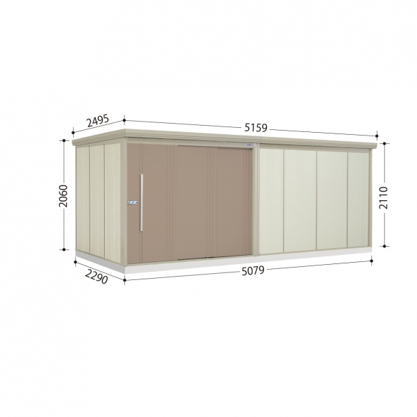 タクボ物置 ND/ストックマン ND-S5022 多雪型 標準屋根  『屋外用中型・大型物置』 カーボンブラウン