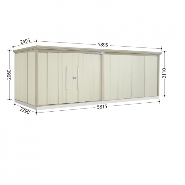 タクボ物置 ND/ストックマン ND-S5822 多雪型 標準屋根  『屋外用中型・大型物置』 ムーンホワイト