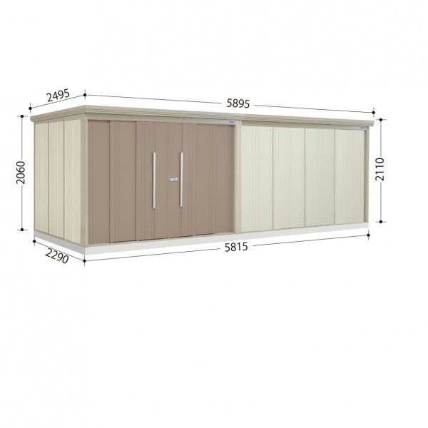 タクボ物置 ND/ストックマン ND-S5822 多雪型 標準屋根  『屋外用中型・大型物置』 カーボンブラウン