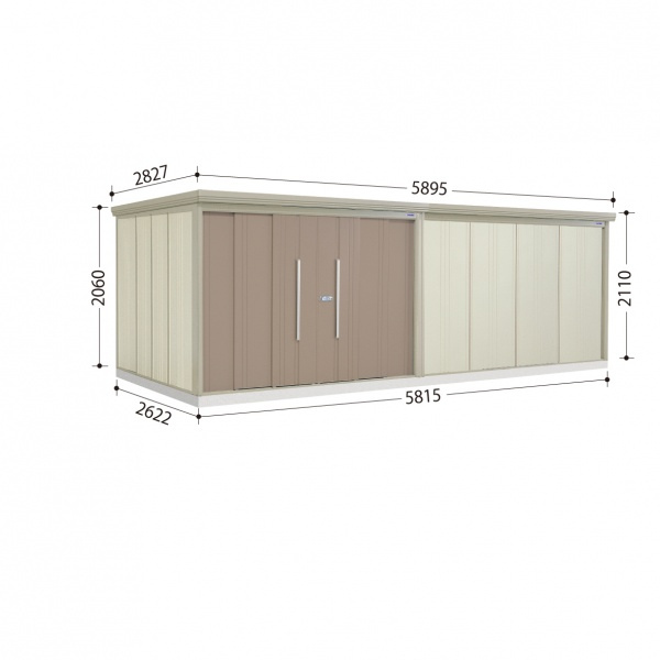 タクボ物置 ND/ストックマン ND-Z5826 一般型 結露減少屋根  『屋外用中型・大型物置』 カーボンブラウン