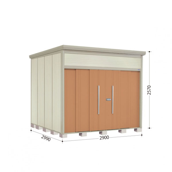タクボ物置 JN/トールマン JN-2929 一般型 標準屋根 『追加金額で工事も可能』 『屋外用中型・大型物置』 トロピカルオレンジ