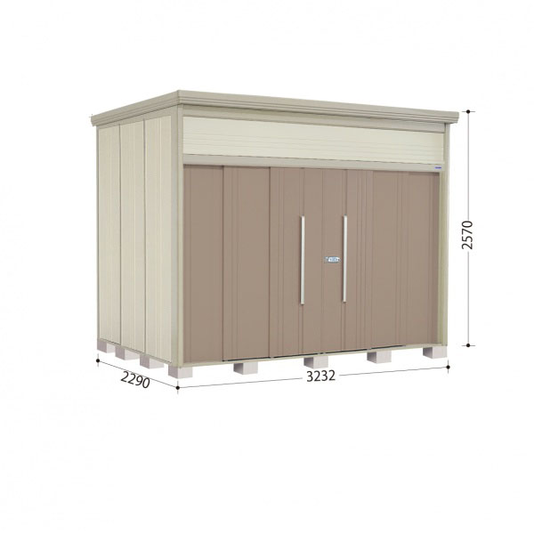 タクボ物置 JN/トールマン JN-SZ3222 多雪型 結露減少屋根 『追加金額で工事も可能』 『屋外用中型・大型物置』 カーボンブラウン