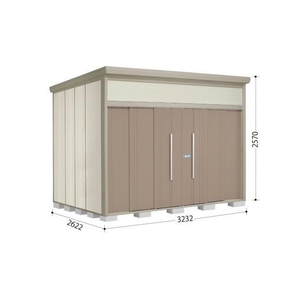 タクボ物置 JN/トールマン JN-Z3226 一般型 結露減少屋根 『追加金額で工事も可能』 『屋外用中型・大型物置』 カーボンブラウン