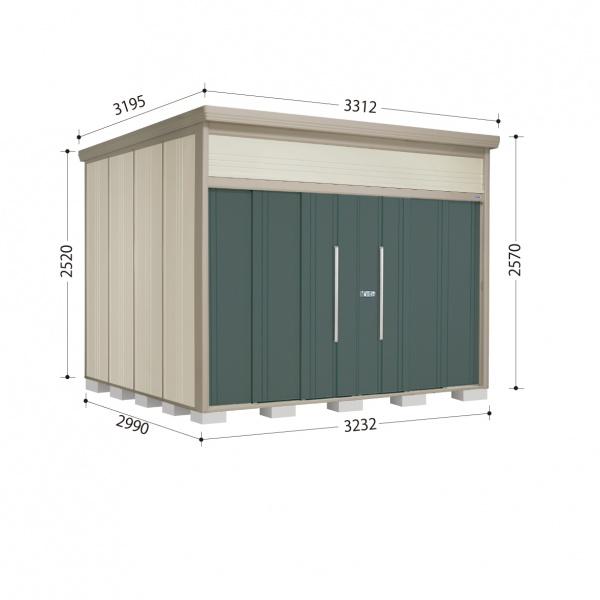 タクボ物置 JN/トールマン JN-SZ3229 多雪型 結露減少屋根 『追加金額で工事も可能』 『屋外用中型・大型物置』 ジェイドグレー