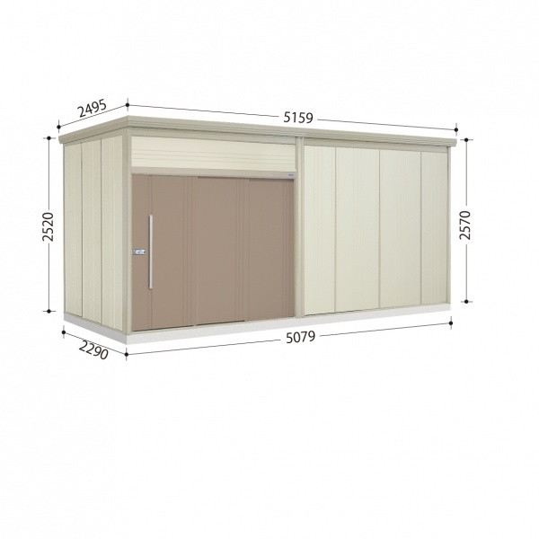 タクボ物置 JN/トールマン JN-SZ5022 多雪型 結露減少屋根  『屋外用中型・大型物置』 カーボンブラウン