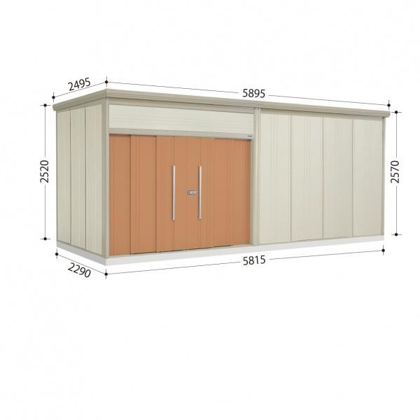 タクボ物置 JN/トールマン JN-SZ5822 多雪型 結露減少屋根  『屋外用中型・大型物置』 トロピカルオレンジ
