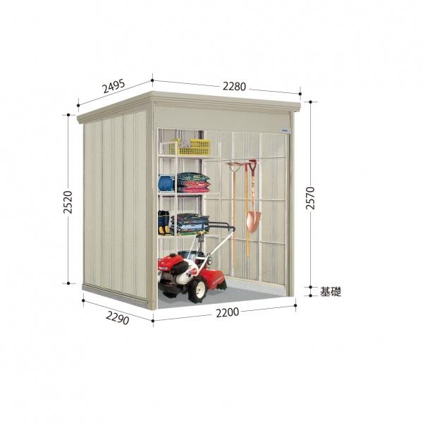 タクボ物置 WS/シャッターマン WS-2222 一般型 標準屋根  『屋外用シャッター式物置』