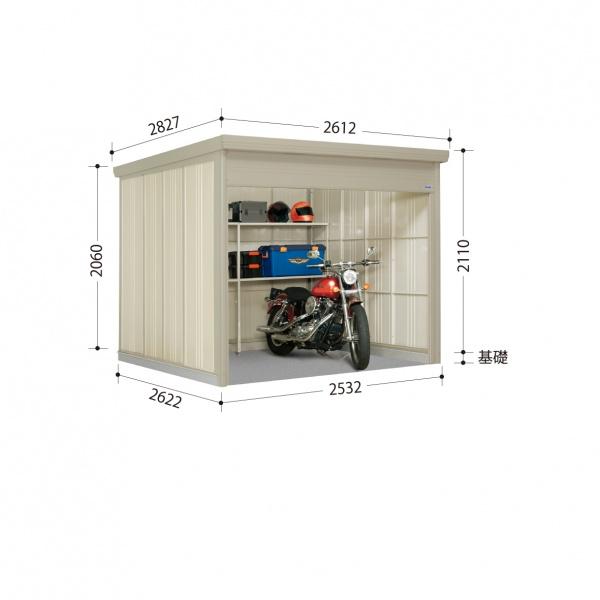 タクボ物置 WS/シャッターマン WSB-S2526 多雪型 標準屋根  『屋外用シャッター式物置』