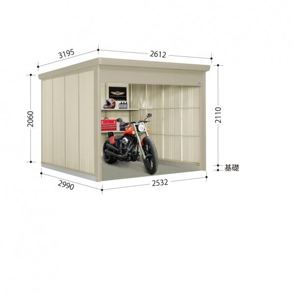 タクボ物置 WS/シャッターマン WSB-S2529 多雪型 標準屋根  『屋外用シャッター式物置』