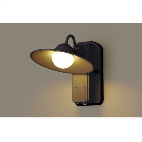パナソニック LEDブラケット・デザインシリーズ センサあり・段調光省エネ型 LGWC80246LE1(100V) 『エクステリア照明 ライト』 オフブラック