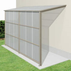 三協アルミ オイトック 1.5間×6尺 波板タイプ/関東間/H=7尺/基本タイプ/600タイプ/単体