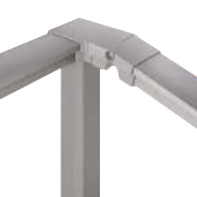 YKKAP ルシアス 歩行補助手すり(自立タイプ) 90°専用角柱セット(90°専用角柱+90°専用角柱ブラケット) 傾斜地用 T100
