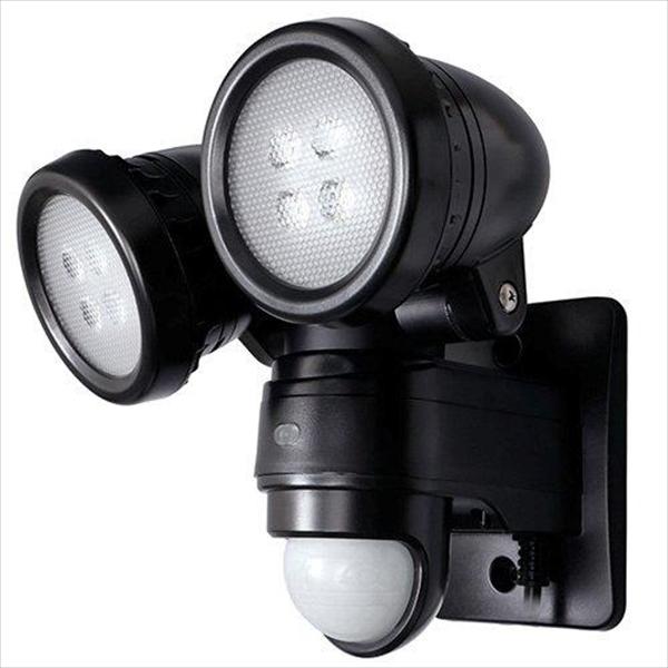 DXアンテナ LEDセンサーライト 2灯型 DSLD10B2 ブラック