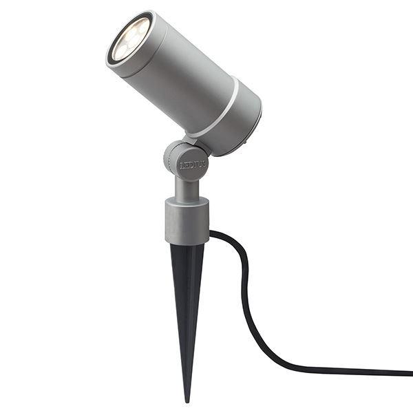 タカショー ガーデンアップライト オプティ・スリム L 100V 中角 HFE-D69S #75091700 『エクステリア照明 』 シルバー