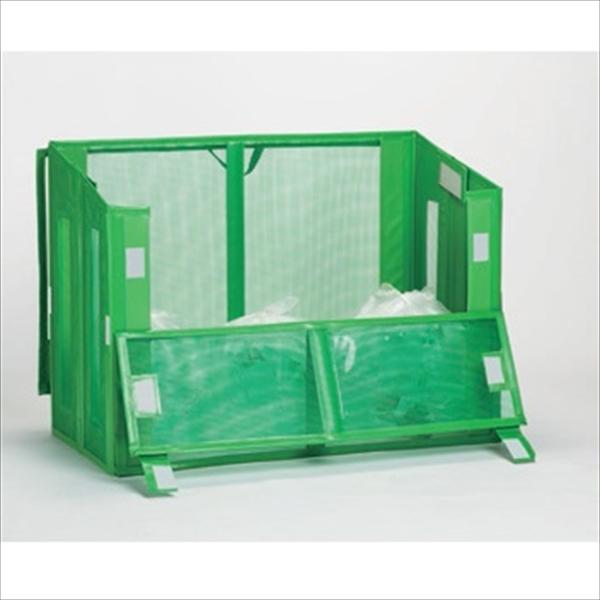 特別オファー テラモト 自立ゴミ枠 折りたたみ式 緑 DS-261-112-1 1200×600×880mm 580L 『ゴミストッカー ゴミ収集庫』 『ゴミ袋(45L)集積目安 9袋、世帯数目安 4世帯』, 安曇村 7995abb5