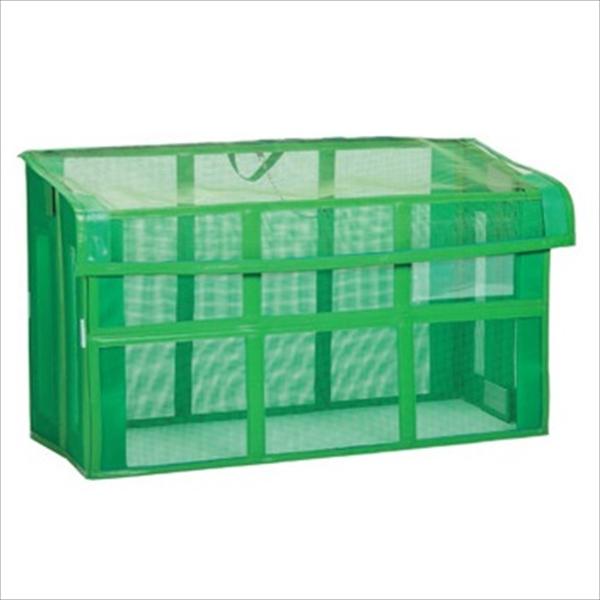 テラモト 自立ゴミ枠 折りたたみ式 緑 DS-261-115-1 1500×600×880mm 580L 『ゴミストッカー ゴミ収集庫』 『ゴミ袋(45L)集積目安 9袋、世帯数目安 4世帯』
