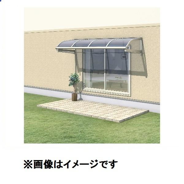 三協アルミ レボリューA 1.5間×2尺 600タイプ/メーターモジュール/1・2階用R型/柱なし式/単体 防汚ポリカ *雨トイは3m×2本を手配します 『テラス屋根』 *屋根カラーはクリアのみ