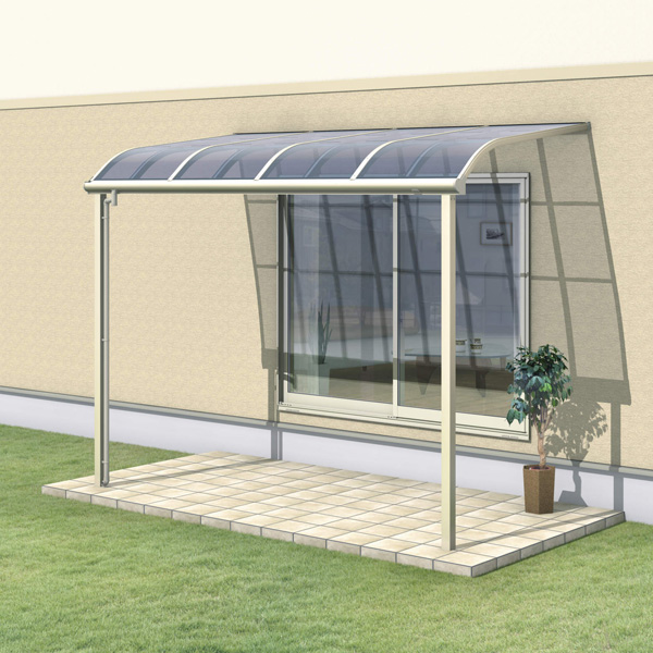 三協アルミ レボリューZ 4.5間×5尺 1500タイプ/メーターモジュール/1階用R型/標準収まり/3連結  『テラス屋根』 熱線遮断ポリカ