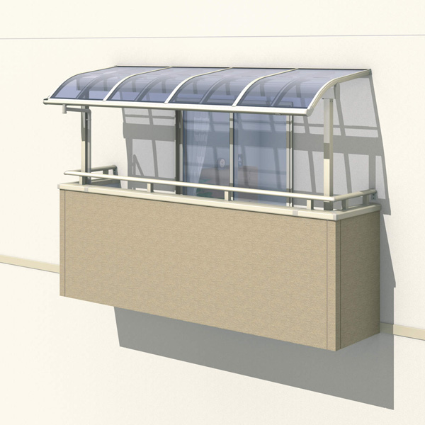 三協アルミ レボリューZ 4.0間×4尺 1500タイプ/関東間/2階用R型/出幅移動収まり/2連結  『テラス屋根』 熱線遮断ポリカ