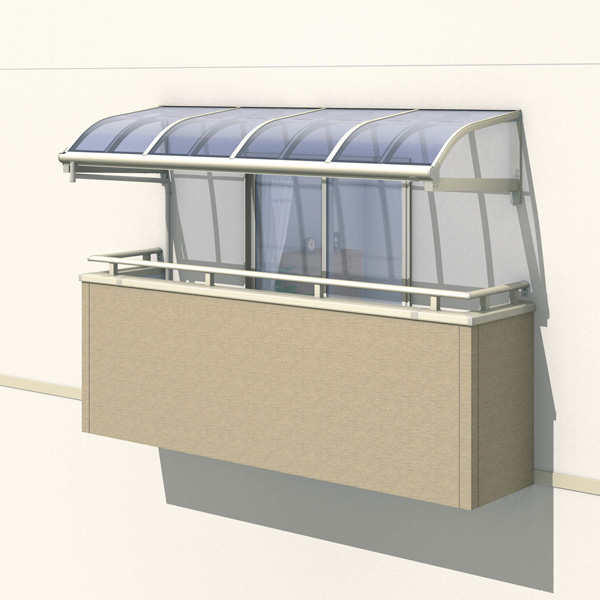 三協アルミ レボリューZ 1.0間×2尺 1500タイプ/メーターモジュール/1・2・3階用R型/柱なし式/単体 *雨トイは3m×2本を手配します 『テラス屋根』 熱線吸収ポリカ