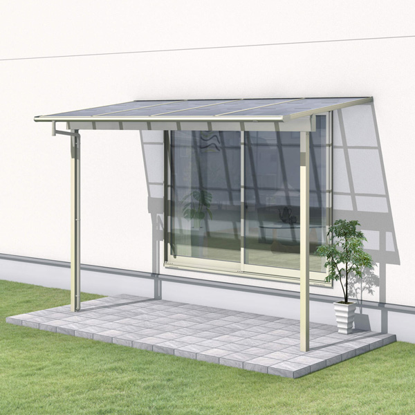 新品本物 三協アルミ レボリューZ 3.5間×5尺 3000タイプ/関東間/1階用F型/出幅移動収まり/2連結  『テラス屋根』 熱線吸収ポリカ, PLUS ONE 9f031878