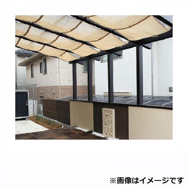 タカショー ポーチテラス カフェスタイル FIX腰壁 独立(壁寄せ)タイプ 2間×4尺 強化ガラス(クリア)